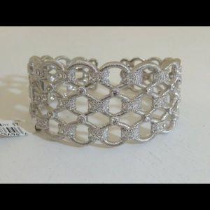 Judith Ripka cuff bracelet honeycomb